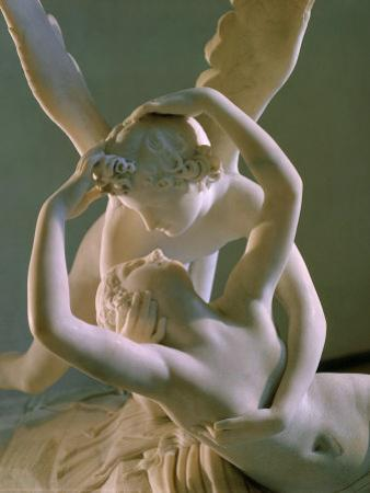 Psyche Brought to Life by Eros' Kiss, 1793 by Antonio Canova