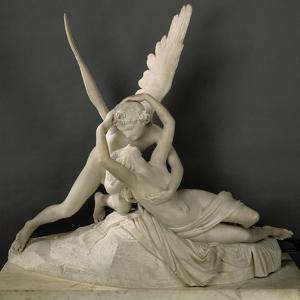 Psyché ranimée par le baiser de l'Amour by Antonio Canova
