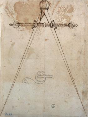 Compasses-calipers with adjustable screw span by Antonio Da Sangallo The Younger