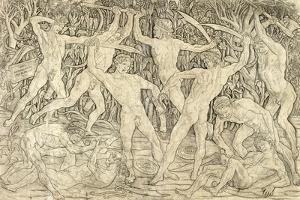 Battle of the Nudes by Antonio Del Pollaiolo