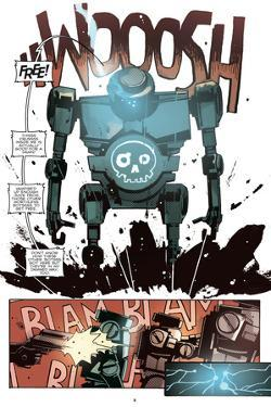 Zombies vs. Robots: No. 10 - Comic Page with Panels by Antonio Fuso