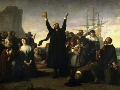 The Arrival of the Pilgrim Fathers, 1863