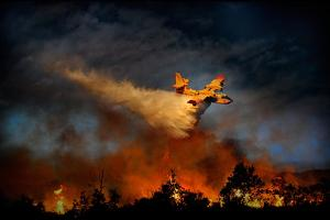 Wall of Fire by Antonio Grambone