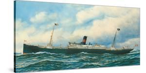 Danish Steamship by Antonio Jacobsen