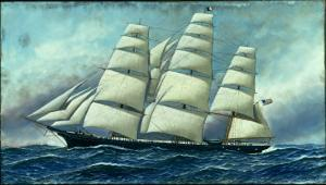 Glory of the Seas' in Full Sail, 1919 by Antonio Jacobsen