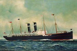 Steamer Kroonland, 1903 by Antonio Jacobsen