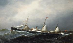 The Steamship Devon, 1879 by Antonio Jacobsen