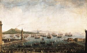 The Embarkation of Charles III in the Port of Naples by Antonio Joli