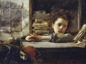 In the Study by Antonio Mancini