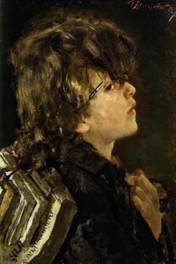 Schoolboy, 1874 by Antonio Mancini