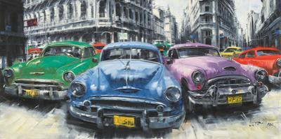 Classic American Cars In Havana by Antonio Massa