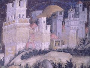 St George and Princess, Turreted City by Antonio Pisanello