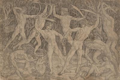 Battle of Ten Naked Men, 1465 by Antonio Pollaiuolo