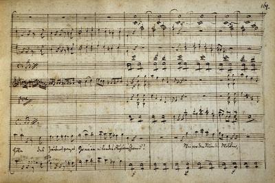 Music Score of Armida, 1771