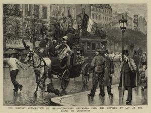 The Military Conscription in Paris by Antonio the Elder Gonzalez Velazquez