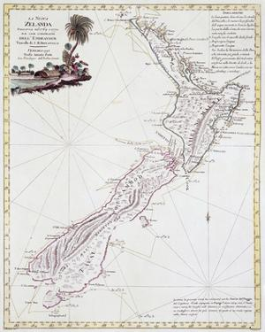 Map Of New Zealand, 1778 by Antonio Zatta