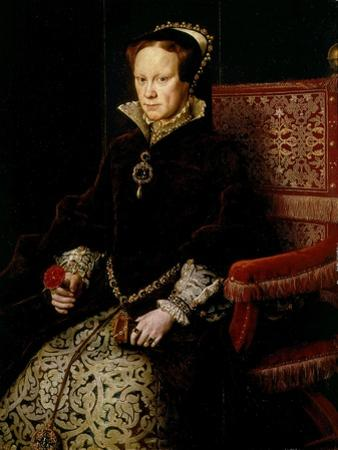 Queen Mary I Tudor of England or Bloody Mary, 1516-58 by Antonis Mor