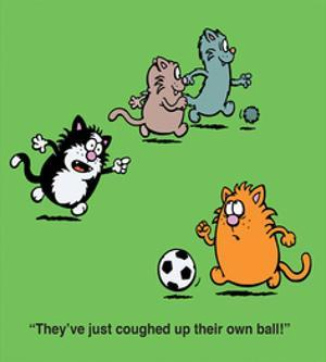 Coughed Up Fur Ball - Antony Smith Learn To Speak Cat Cartoon Print by Antony Smith