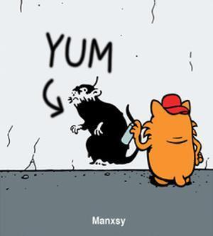 Graffiti - Antony Smith Learn To Speak Cat Cartoon Print by Antony Smith