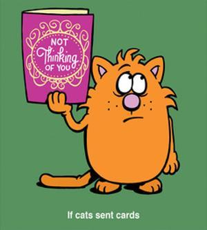 If Cats Sent Cards - Antony Smith Learn To Speak Cat Cartoon Print by Antony Smith