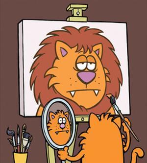 Self Portrait - Antony Smith Learn To Speak Cat Cartoon Print by Antony Smith
