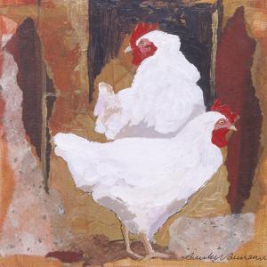 White Cockerels by Anuk Naumann