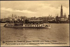 Anvers, Dampfer Wilford, Excursions Sur L'Escaut