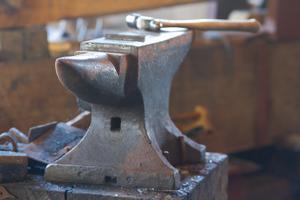 Anvil in Blacksmith Metal Workshop Photo Poster