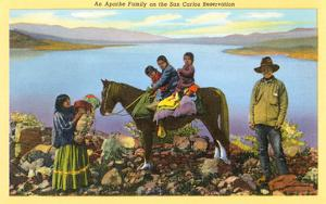 Apache Family on San Carlos Reservation