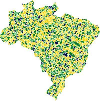 Map Of Brasil by aperitivi