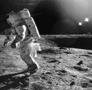 Apollo 12 Astronaut on the Moon