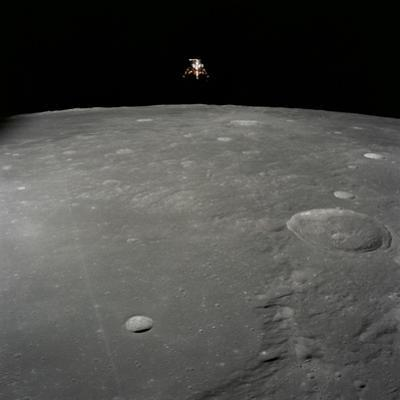 Apollo 12 Lunar Module Intrepid Landing on the Moon's Surface in the Ocean of Storms, 1969