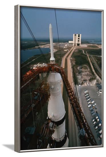 Apollo 15 atop Saturn 5 Rocket--Framed Photographic Print