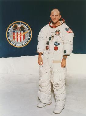 Apollo 16 Astronaut Thomas Mattingly in Spacesuit, 1971