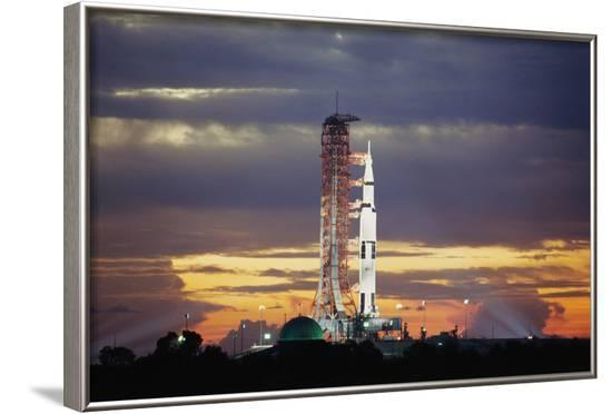 Apollo 17 and Launch Pad with Sunrise--Framed Photographic Print