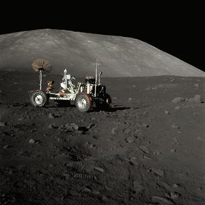 Apollo 17 Lunar Rover on the Surface of the Moon