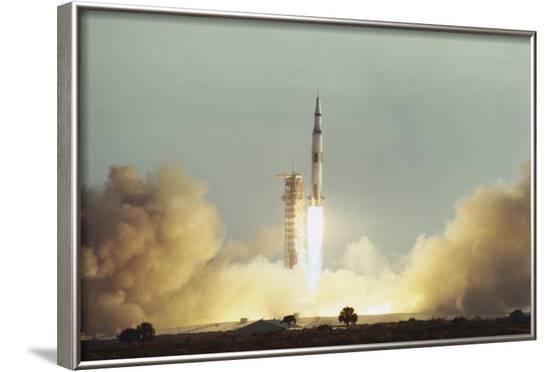 Apollo 8 Blasting Off--Framed Photographic Print