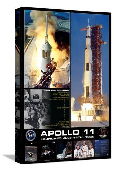 Apollo II Launch--Stretched Canvas