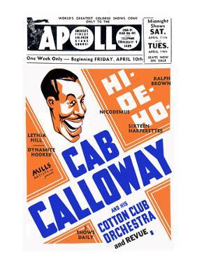 Apollo Theatre: Cab Calloway, Nicodemus, Sixteen Harperettes, Lethia Hill, and Dynamite Hooker
