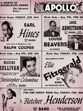 Apollo Theatre: Earl Hines, Louis Armstrong, Ella Fitzgerald, Fletcher Henderson and More