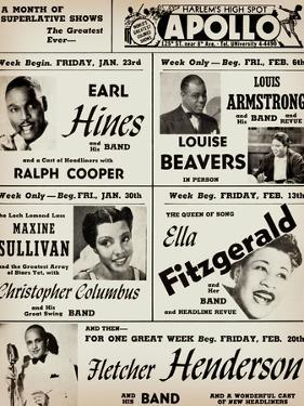 Apollo Theatre: Earl Hines, Louis Armstrong, Ella Fitzgerald, Fletcher Henderson and More