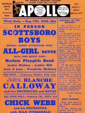 Apollo Theatre: Scottsboro Boys, Blanche Calloway, Chick Webb, Ella Fitzgerald, and More