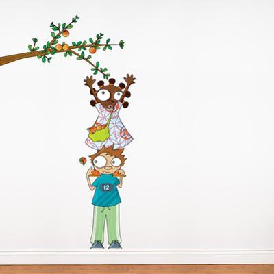 Apple Picking Wall Decal