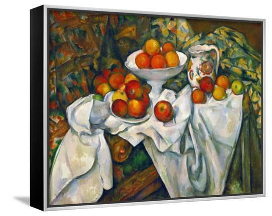 Apples and Oranges-Paul Cézanne-Framed Canvas Print