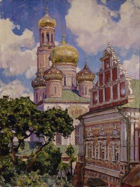 Clouds and Golden Domes, the Simonov Monastery, 1927 by Appolinari Mikhaylovich Vasnetsov