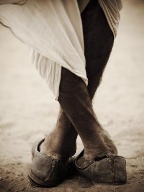 Camel Trader Standing Cross Footed by April Maciborka