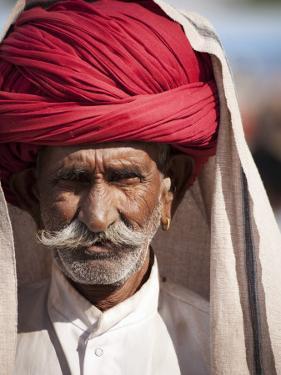 Portrait of Man in Red Turban by April Maciborka