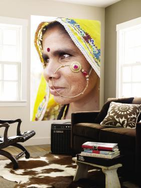 Rajasthani Woman with Nose Ring by April Maciborka