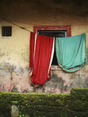 Saris Hanging on Line by April Maciborka