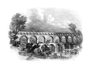 Aqueduct of Nimes at the Pont Du Gard, France, 1886